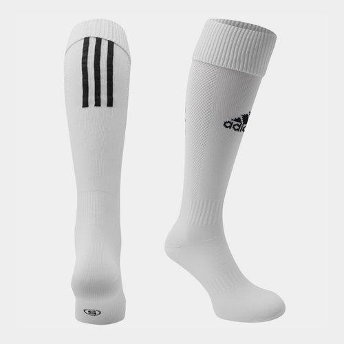 Chaussettes de football pour hommes, adidas Santos en blanc