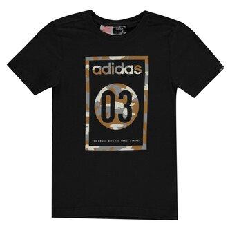 03 Camo QT T Shirt Junior Boys