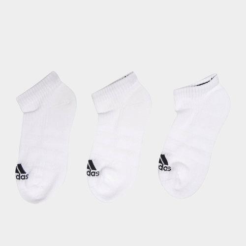 adidas Lot de 3 paires - Chaussettes Invisibles 3 Bandes Performance