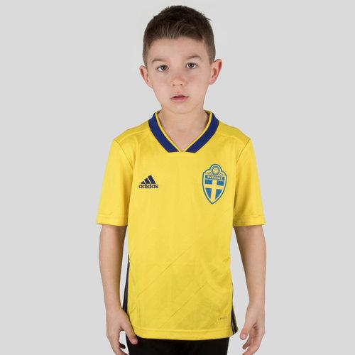 Suède 2018 - Maillot de Foot Réplique Domicile Enfants