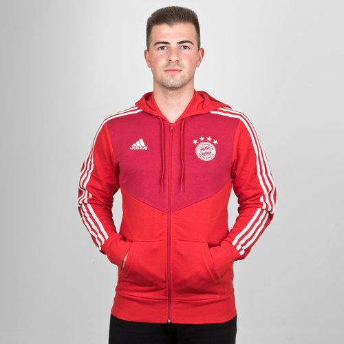 Bayern Munich 18/19 - Pull à Capuche de Foot Zippé 3 bandes