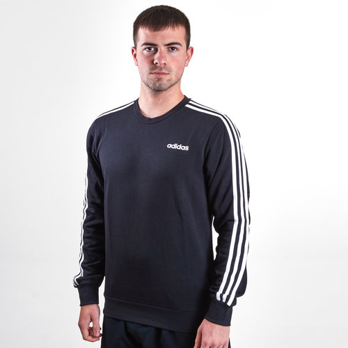 Essential 3 Stripe - Pull Crew en French Terry
