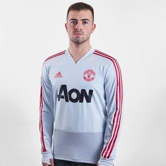 T-shirt d'entrainement joueurs de football à manches longues, Manchester United 2019