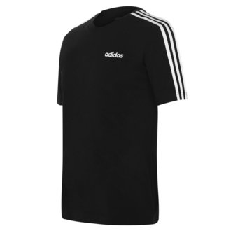 Essentials 3 Stripes, T-shirt Noir